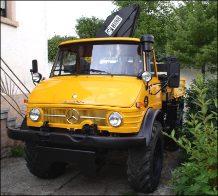 Classic Unimogs For Sale 1977 Unimog 416 With Hiab 650 Crane