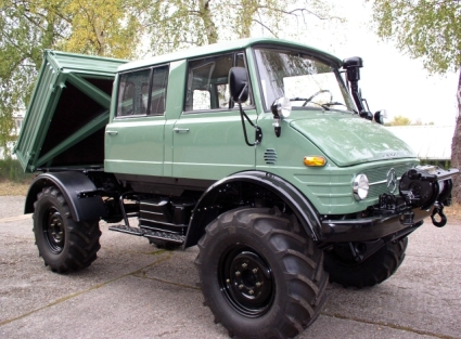 1977 Unimog 416 DoKa with front PTO and Werner Winch