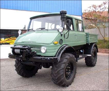 1977 Unimog 416 DoKa with Hydraulics, Tipper Bed and Winch